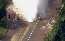 Watch: Major water main break soaks UCLA area