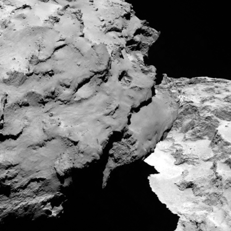 Rosetta spacecraft orbits comet