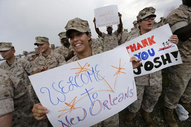 U.S. vet paddles the Mississippi