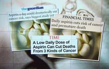 Aspirin a day cuts cancer rates