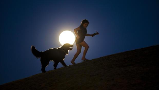 Supermoon lights up the night sky