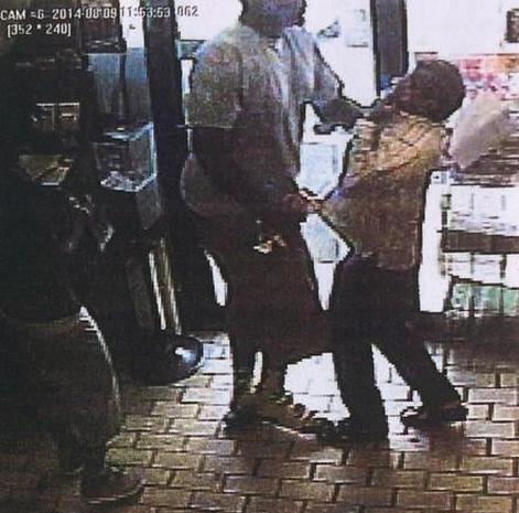 Surveillance video of store robbery in Ferguson