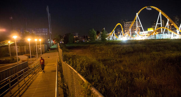Coney Island by night