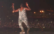 Kanye West performs at Jay Z's Made in America Music Festival