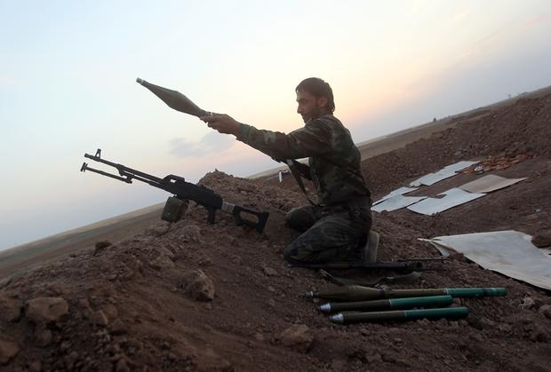 Peshmerga fighters of Iraq