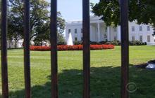 How did trespasser make it past White House front door?