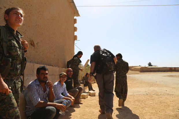 On Syria's front line against ISIS