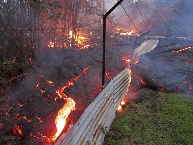 Lava flows on Hawaii's Big Island
