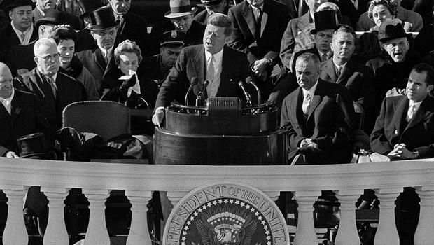 president john f kennedys inauguration speech analysis Us president john f kennedy delivers his inaugural address, jan 20, 1961 associated press hide caption.