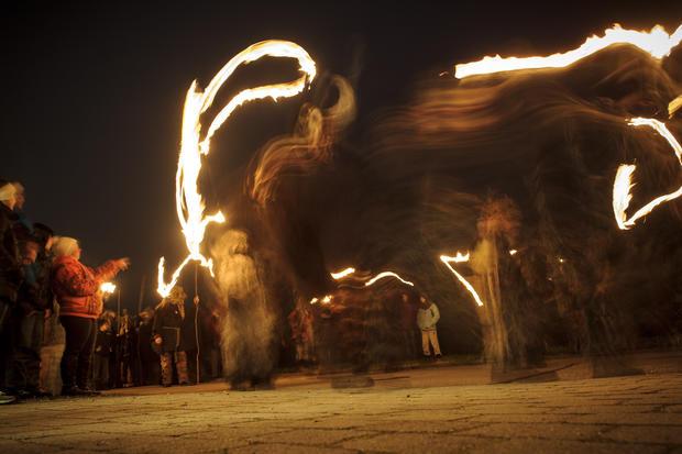 Perchten winter festival