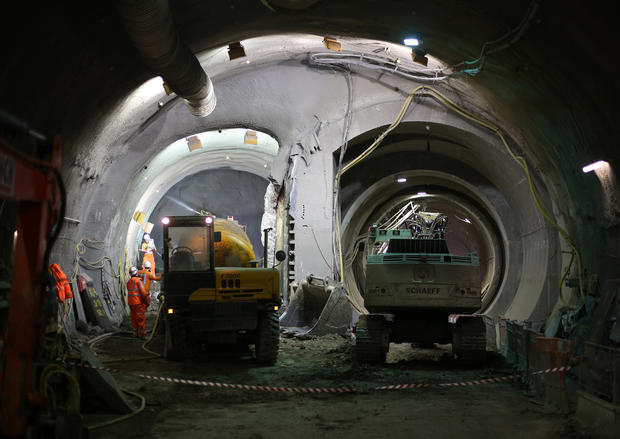 Digging the Crossrail in London