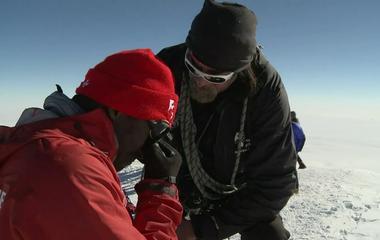 Kionte Storey summits Mt. Vinson in Antarctica