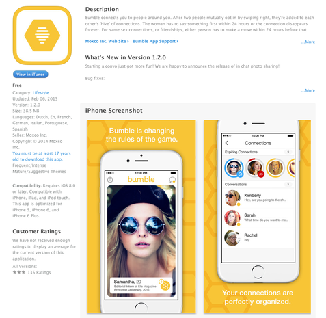 bumble dating site rules Tinder co-founder whitney wolfe recently introduced bumble (free), the dating app bumble dating app lets women make the first move but the bumble rules do.