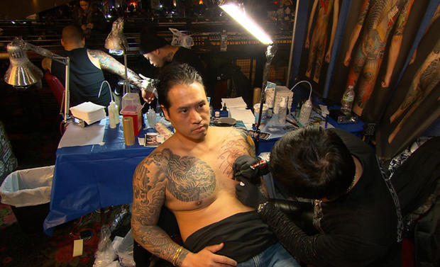 At the tattoo parlour