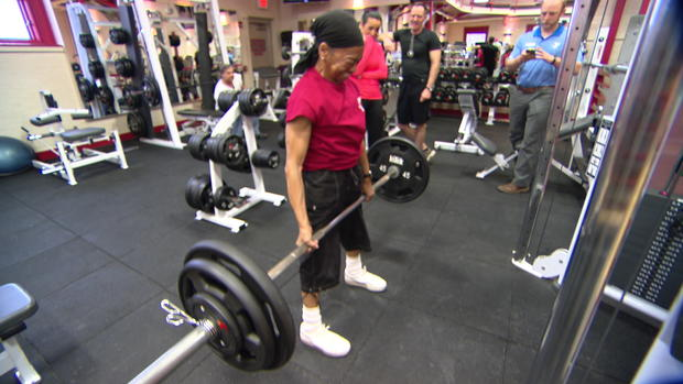 77 Year Old Grandmother Lifts Big At The Gym Cbs News
