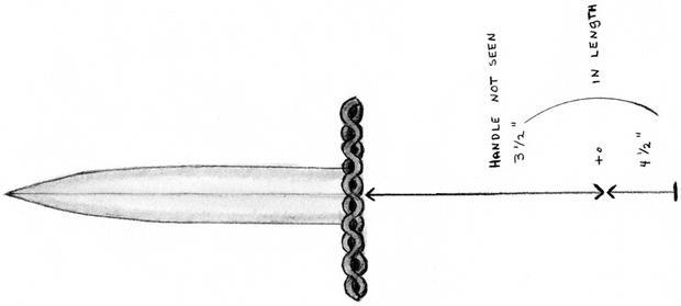 Lehton说入侵者拿着一把带有华丽剑柄的匕首,类似于这张警察的素描。