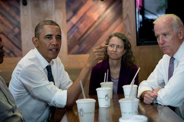 Presidents and candidates eating fast food