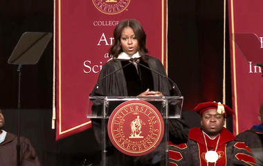 Michelle Obama speaks candidly on race at Tuskegee