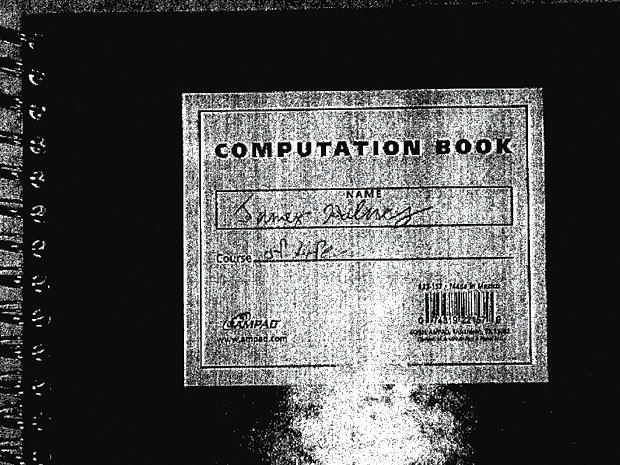 The notebook of James Holmes