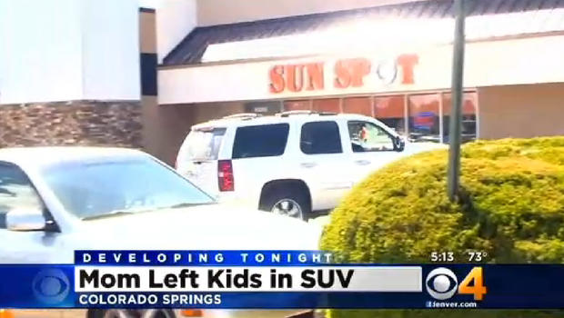 Cops colorado springs mother left three kids the for 85 degrees tanning salon