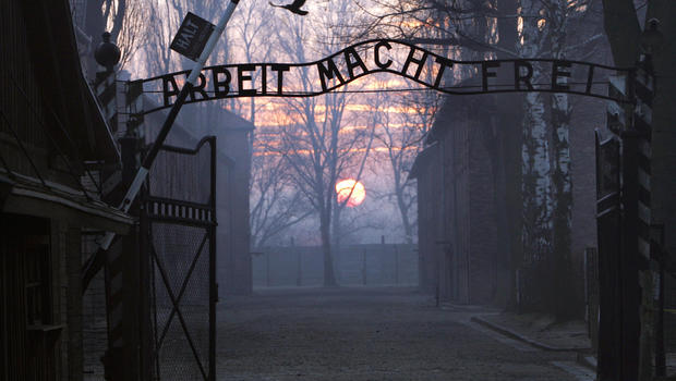 Naked men and women arrested after slaughtering sheep at Auschwitz death camp