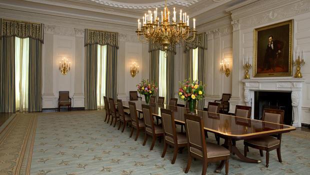 White House Dining Room Gets A Slight Makeover Cbs News