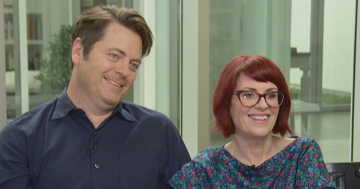 Megan Mullally & Nick Offerman's romantic comedy - CBS News