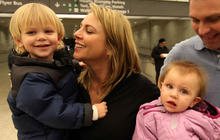 After the assault: Lara Logan comes home