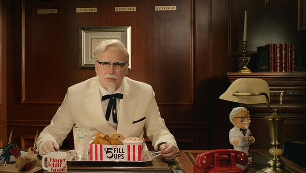 Who plays colonel sanders in new commercials reanimators