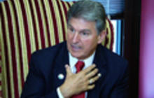 "Gun control legislation still on Congress' ""front-burner,"" Manchin says"