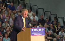 Slammed for his silence on Obama, Trump drops out of event