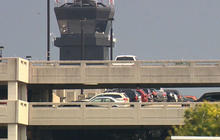 Airport tower struck by lightning, worker brought to his knees by shock