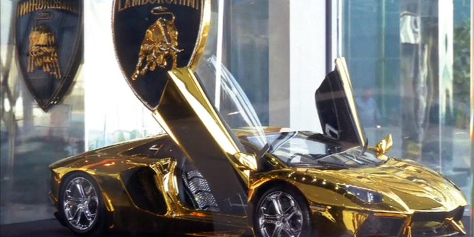 Gold Plated Diamond Encrusted Lamborghini Up For Auction