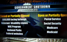 Government shutdown: Day One