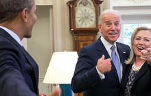 In Iowa and abroad, Biden and Clinton spark 2016 speculation