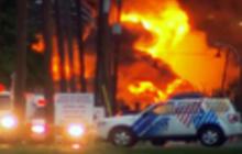 Train derailment sparks massive fire in Canada