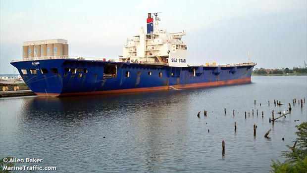 The cargo ship El Faro is docked in Baltimore, Maryland, on July 16, 2009, in this picture taken by Allen Baker.
