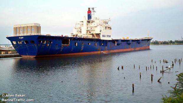 货船El Faro于2009年7月16日停靠在马里兰州的巴尔的摩,由Allen Baker拍摄。