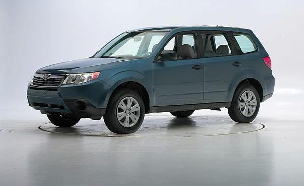 small suv 2009 subaru forester 9 000 7 of the safest used cars for teen drivers cbs news. Black Bedroom Furniture Sets. Home Design Ideas