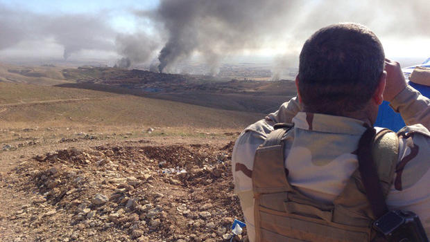 "Kurdish Peshmerga say ISIS ""on the run"" in US-backed ..."