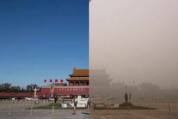 Beijing pollution – through a lens, darkly