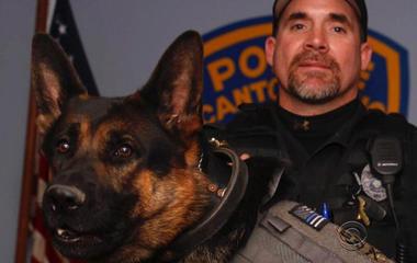 Fallen K-9 patrolman respected by hundreds
