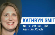 How Kathryn Smith became the NFL's first female coach