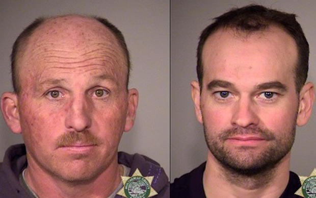 Mugshots of 45-year-old Duane Leo Ehmer of Irrigon, Oregon, and 34-year-old Dylan Wade Anderson of Provo, Utah