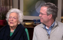 Barbara Bush on husband throwing shoe at TV