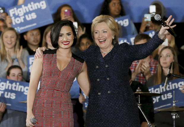 Celebs endorsing presidential candidates