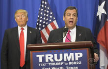 Former rivals make nice: Christie endorses Trump