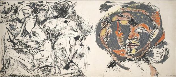杰克逊 - 波洛克 - 人像和一个梦 -  1953年达拉斯 - 博物馆的艺术 -  620.jpg