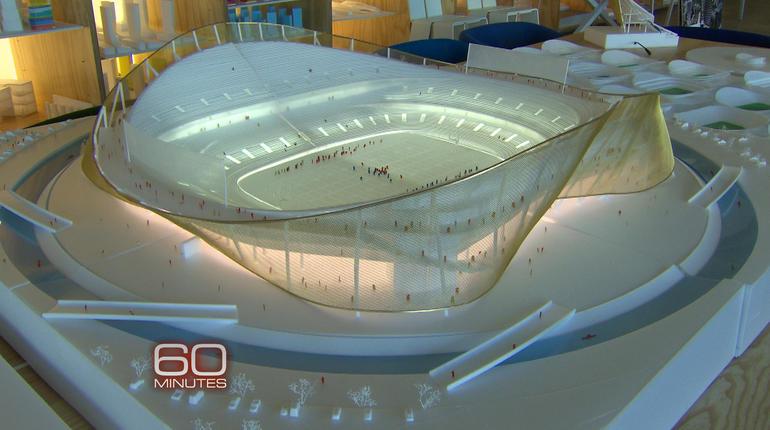 60 Minutes Reveals Model Of New Redskins Stadium Cbs News