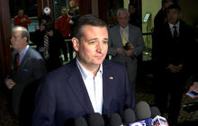 Ted Cruz denounces clashes at Donald Trump rally